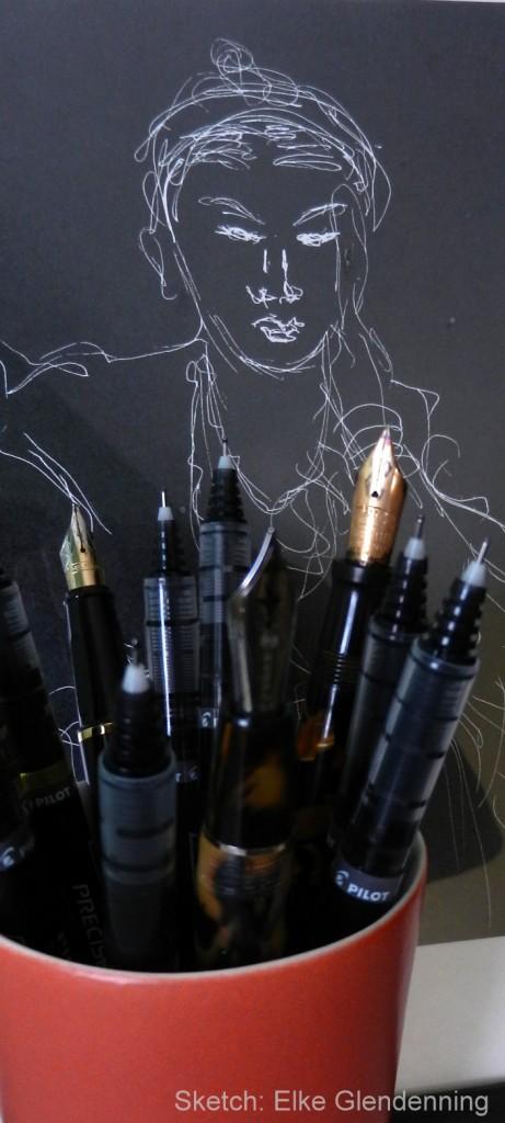 pen sketch Glendenning